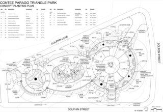 Concept Planting Plan Contee Parago Triangle Park