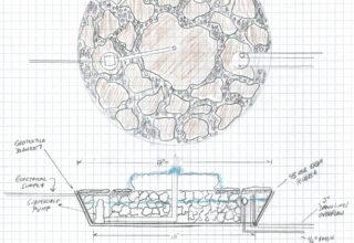 contee parago water fountain sketch
